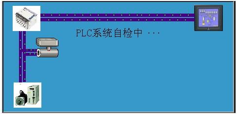 欢迎界面显示时间设定为4s,计时时间到,自动切换到如图2所示的plc系统